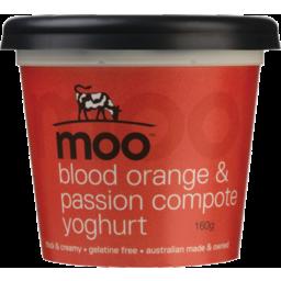 Photo of Moo Yoghurt Blood Orange & Passion Compote 160g