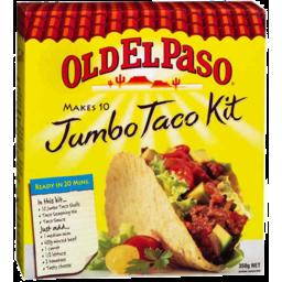 Photo of Old El Paso Jumbo Taco Kit 350g 10 Pk