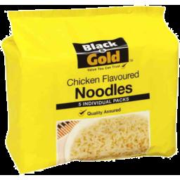Photo of Black & Gold Chicken Flavoured Noodles 5x85g