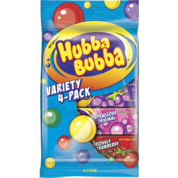 Photo of Wrigley's Hubba Bubba Variety 4 Pack 140g