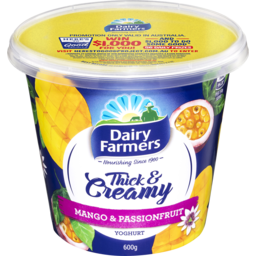 Photo of Dairy Farmers Thick & Creamy Yoghurt Mango & Passionfruit 600g