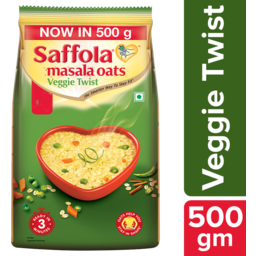 Photo of Saffola Oats - Veggie Twist 500g -  - Best Before 28/04/2021