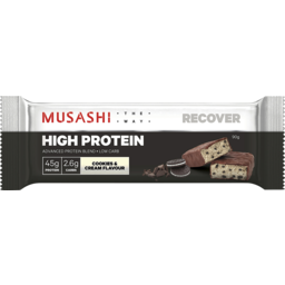 Photo of Musashi P45 Bar Cookies & Cream 90g