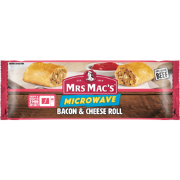 Photo of Mrs Macs Microwave Bacon & Cheese Roll 140g