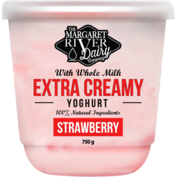 Photo of The Margaret River Dairy Strawberry Yoghurt 160g