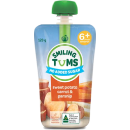 Photo of WW Smiling Tums 6+mths Baby Food Sweet Potato Carrot & Parsnip 120g