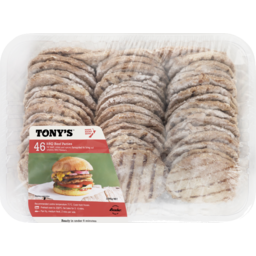 Photo of Tonys Patties Barbecue Beef 46 Pack