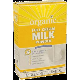 Photo of Organic Times Milk Powder - Full Cream