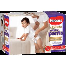 Photo of Huggies Ultimate Nappy Pant Size 6 Jumbo Junior 48 Pack