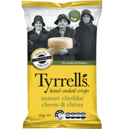 Photo of Tyrrells Mature Cheddar Cheese & Chives Crisps 165g