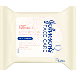 Photo of Johnson & Johnson Daily Essentials Facial Cleansing Wipes Extra Sensitive 25 Pack