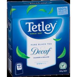 Photo of Tetley Tea Bags Decaf 100 Each