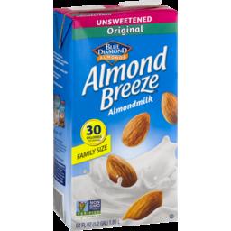 Photo of Blue Diamond Almonds Almond Breeze Almondmilk Unsweetened Original Family Size