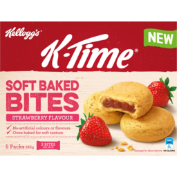 Photo of Kelloggs K-Time Soft Bake Bites Strawberry Flavour 5 Pack 165g