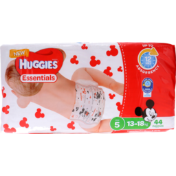 Photo of Huggies Essentials Nappies Walker Size 5 44s