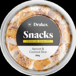 Photo of Drakes Snacks Apricot & Coconut Slice Tub 200g