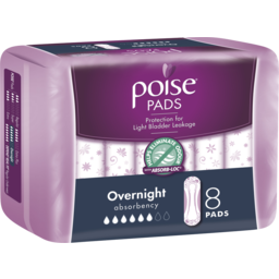 Photo of Poise Pads Overnight 8 Pack