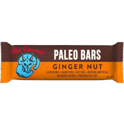 Photo of Blue Dinosaur Paleo Bar Ginger Nut 45gm