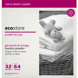 Photo of Ecostore Geranium & Orange Laundry Powder 1kg