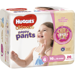 Photo of Huggies Ultimate Nappy Pants, Girls, Size 6 Junior (16kg And Over), 26 Nappy Pants