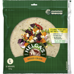 Photo of Helgas Mixed Grain Wraps 8pk 560g
