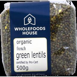 Photo of Wholefoods House Lentils French Green Oranic 500g