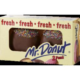 Photo of Mr Donut Choc Jam Donuts 2pk
