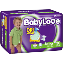 Photo of Babylove Bulk Nappies Junior 30pk