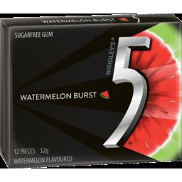 Photo of Wrigley's 5 Gum Watermelon Burst 12 Pieces 32g