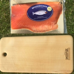 Photo of Cold Smoked Ocean Trout and Huon Pine Chopping Board - Hamper