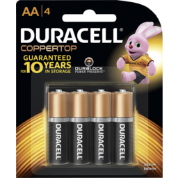 Photo of Duracell Coppertop Batteries Aa 4 Pack