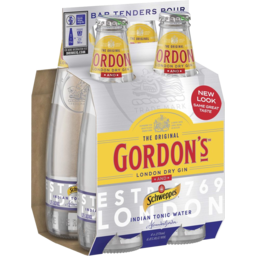 Photo of Gordons Gin and Tonic 6% 4*275ml