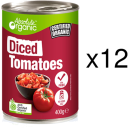 Photo of Absolute Organic Diced Tomatoes - Tray Of 12