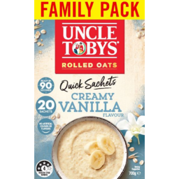 Photo of Uncle Tobys Oats Creamy Vanilla Flavour Quick Sachets 20 Pack 700g