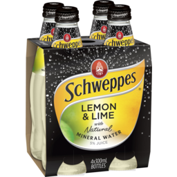 Photo of Schweppes Mineral Water 300ml Lemon Lime 4 Pack
