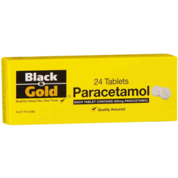 Photo of Black And Gold Paracetamol 20's