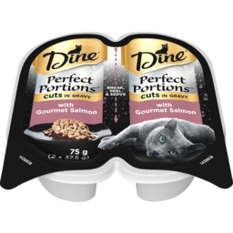 Photo of Dine Cat Food Perfect Portion Gourmet Salmon 75g