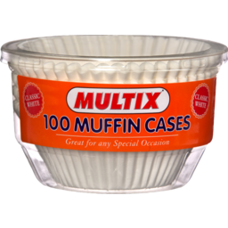 Photo of Multix Baking Aids Muffin Cases Large White X 100
