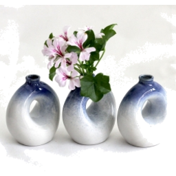 Photo of Blue Doughnut Vase
