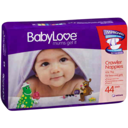 Photo of Babylove Nappies Crawler 6-11kg 44pk