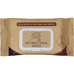 Photo of Eco Basics Antibacterial Wipes 80 Pack