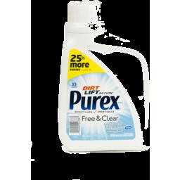 Photo of Purex Ultra Hypoallergenic Free & Clear Detergent - 33 Loads