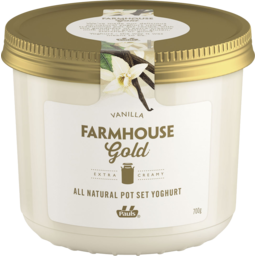 Photo of Pauls Farmhouse Gold Pot Set Yoghurt Vanilla 700g