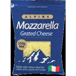 Photo of Alpine Cheese Grated Mozzarella 550g