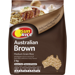 Photo of Sunrice Australian Medium Grain Brown Rice 2kg