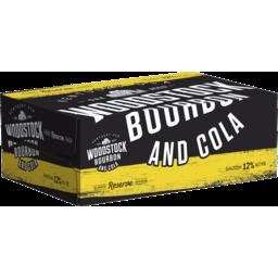Photo of Woodstock Bourbon & Cola 12% 200ml 24 Pack