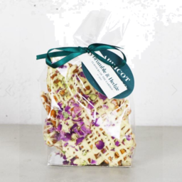 Photo of Bramble & Hedge Peanut Brittle Apricot/Pistachio/Rose petal 200g