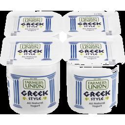 Photo of Farmers Union Greek Style Yogurt 4x160g