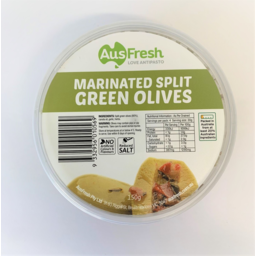Photo of Ausfrsh Olives Green Split Marinated 150g