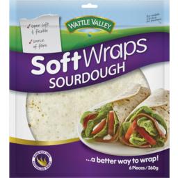 Photo of Wattle Valley Soft Wraps Sourdough 6x260gm